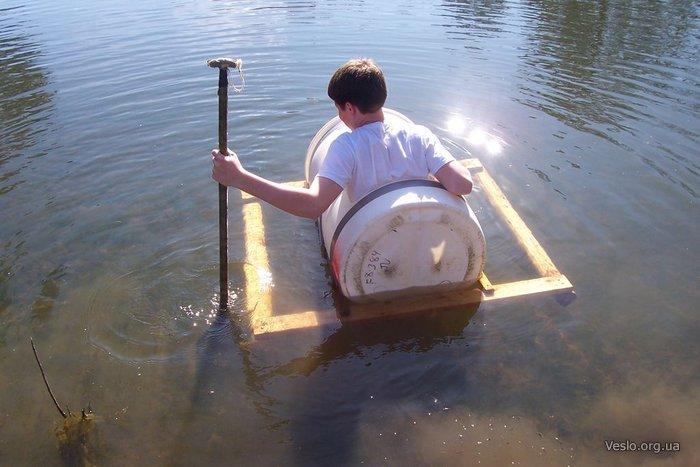 самодельная лодка из пластиковой бочки